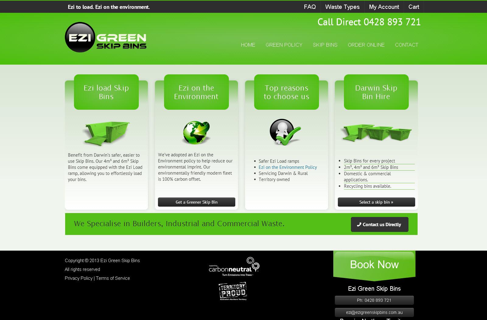 Ezi Green Skip Bins